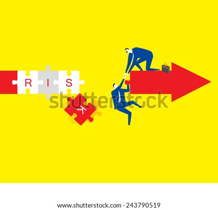 Dangerous moment - stock vector