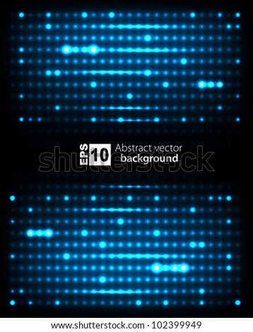 Dark abstract background with glowing lights. Vector