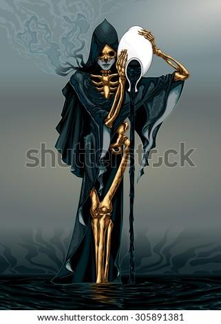 Dark Aquarius. Vector illustration - stock vector