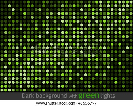 Dark background with green lights - stock vector