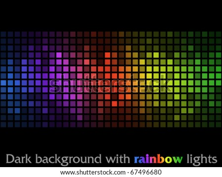Dark background with rainbow lights - stock vector