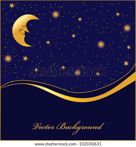 dark background with stars, vector - stock vector