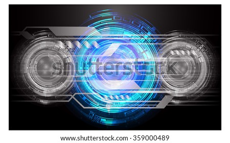 Dark black blue Light Abstract Technology background for computer graphic website internet and business. circuit. vector illustration. infographics. motion move blur.neon. pixel. eye. scan virus