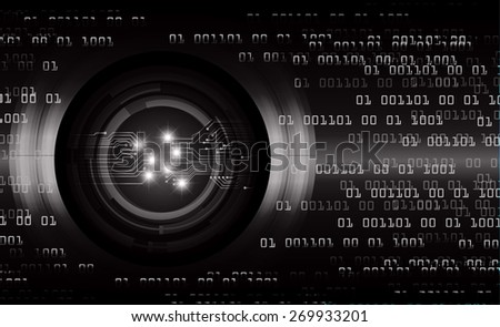 dark black color Light Abstract Technology background for computer graphic website internet and business. circuit. vector illustration. number
