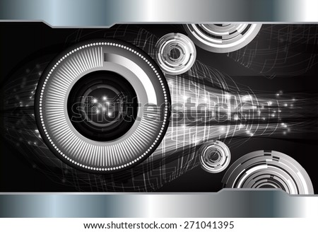 dark black color Light Abstract Technology background for computer graphic website internet and business. circuit. vector illustration. silver