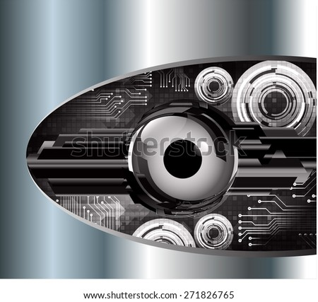 dark black color Light Abstract Technology background for computer graphic website internet and business. circuit. vector illustration. eye. eyeball. Silver, metal, steel. text box. Brochure. card.
