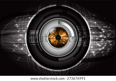 dark black color Light Abstract Technology background for computer graphic website internet and business. circuit. vector illustration. abstract digital . silver. infographics. eye. - stock vector