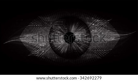 dark black color Light Abstract Technology background for computer graphic website internet and business. circuit. illustration. digital. infographics. binary code background. www.vector.Spark eye - stock vector