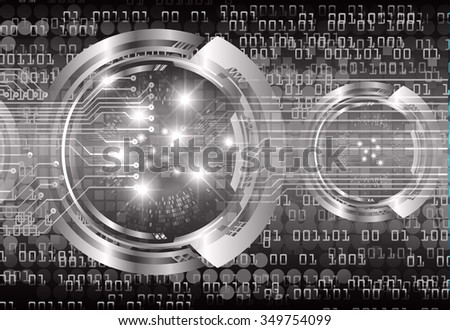 dark black color Light Abstract Technology background for computer graphic website internet and business. circuit. illustration. digital. infographics. binary code. www. vector.one. zero.pixel eye