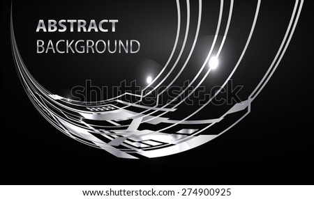 dark black silver Light Abstract Technology background for computer graphic website internet and business. circuit illustration infographics. text box.Brochure card. banner flyer magazine label - stock vector
