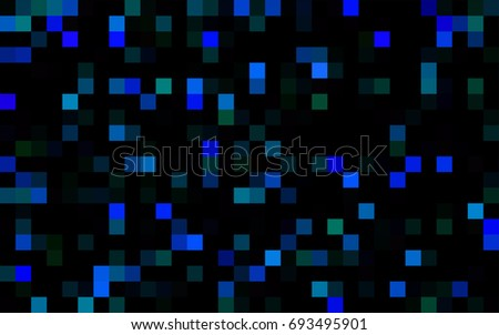 Dark Black vector polygonal illustration consisting of rectangles. Rectangular design for your business. Creative geometric background in origami style with gradient.