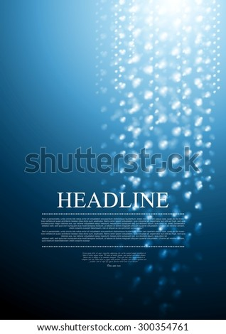 Dark blue abstract sparkling background. Vector design - stock vector