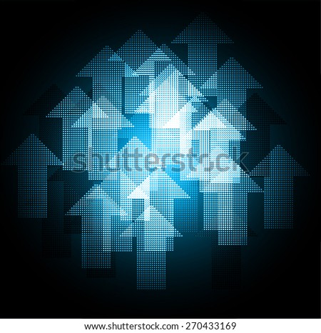 Dark blue color Light Abstract Technology background for computer graphic website internet.  - stock vector