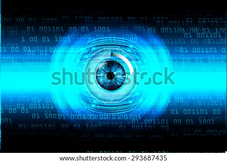 dark blue color Light Abstract Technology background for computer graphic website internet and business. circuit. illustration. digital. infographics. binary code background. www. vector. eye - stock vector
