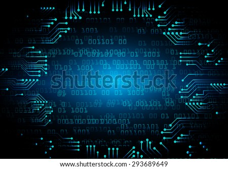 dark blue color Light Abstract Technology background for computer graphic website internet and business. circuit. illustration. digital. infographics. binary code background. www. vector - stock vector