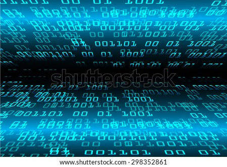 dark blue color Light Abstract Technology background for computer graphic website internet and business. circuit. illustration.digital.infographics. binary code. www.vector.motion move blur. zero one - stock vector