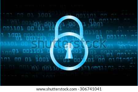 dark blue color Light Abstract Technology background for computer graphic website internet and business. circuit. vector illustration. infographics. motion move blur.neon. lock, key, Padlock.zero one