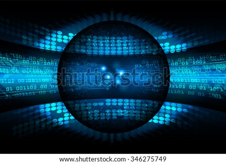 dark blue color Light Abstract Technology background for computer graphic website internet and business. circuit. illustration. digital. infographics. binary code background. - stock vector