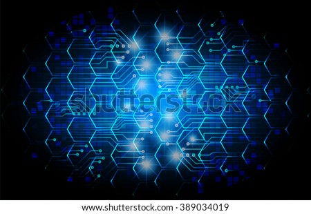dark blue color Light Abstract Technology background for computer graphic website internet business. circuit. illustration. digital. infographics. binary code background. www. vector. Hexagonal mesh - stock vector