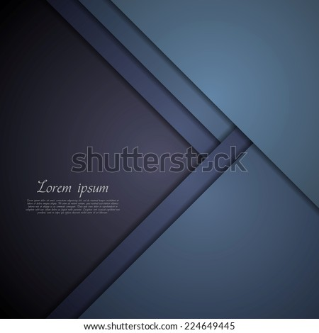 Dark blue corporate tech art. Vector material background - stock vector