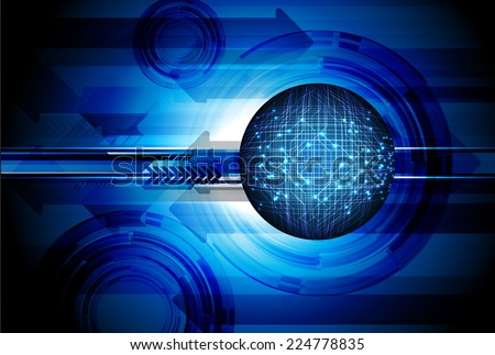 Dark blue Light Abstract Technology background for computer graphic website and internet, circuit board.  - stock vector