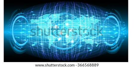 dark blue Light Abstract Technology background for computer graphic website internet and business. circuit. illustration.digital.infographics. binary code. zero one. world. scan virus