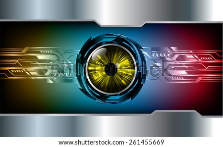 dark blue orange red color Light Abstract Technology background for computer graphic website internet and business. circuit. silver background. text box. label. card. yellow eye. - stock vector
