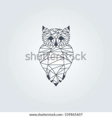 Dark Blue Origami Owl Vector Design