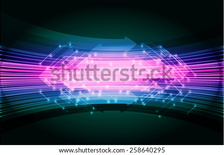 Dark blue pink Light Abstract Technology background for computer graphic website internet. circuit board. card