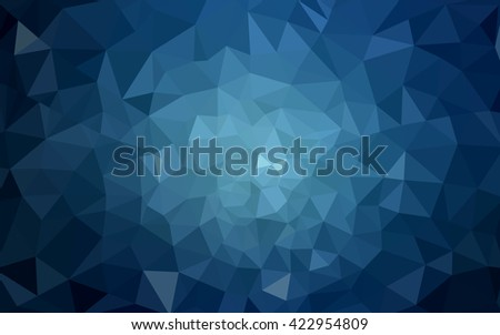 Dark blue polygonal illustration, which consist of triangles. Geometric background in Origami style with gradient. Triangular design for your business. - stock vector