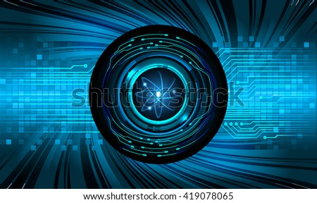 Dark Blue Shining atom scheme. illustration. dark background. digital. infographics. Abstract Technology background for computer graphic website internet and business. Spark - stock vector