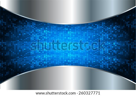 Dark blue silver color Light Abstract Technology background for computer graphic website internet. Tables, mosaic, pixel. - stock vector