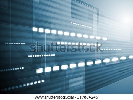 Dark blue tech motion background. Vector design eps 10 - stock vector