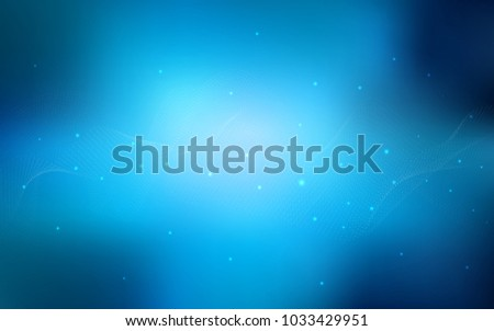 Dark BLUE vector texture with disks. Blurred decorative design in abstract style with bubbles. The pattern can be used for aqua ad, booklets.