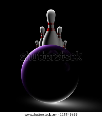 Dark bowling background. Eps 10 - stock vector