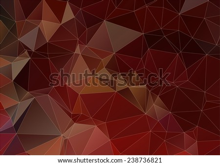 Dark brown abstract polygonal background - stock vector