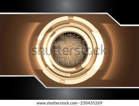 Dark brown Light Abstract Technology background for computer graphic website internet. circuit.