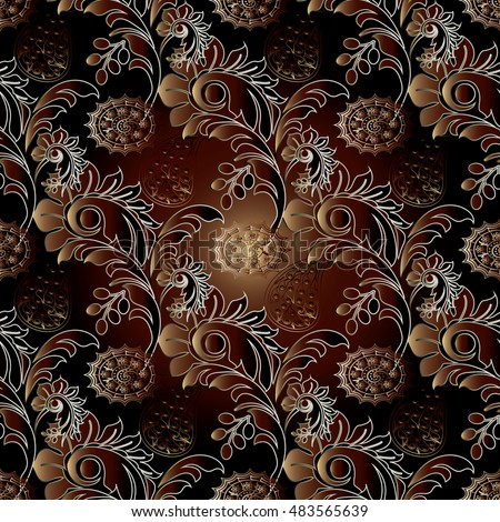 Paisley wallpaper stock images royalty free images for 3d brown wallpaper