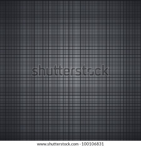 Dark brushed metal vector texture. - stock vector