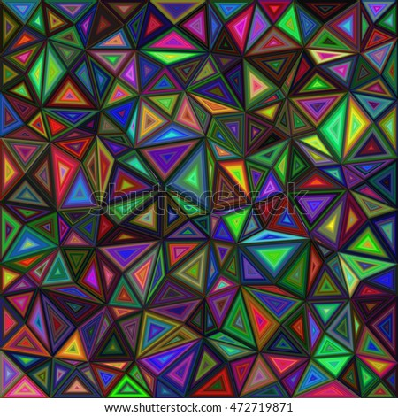 Dark colored irregular triangle mosaic vector background design
