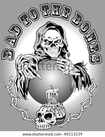 dark creatures' illustration and of terror - stock vector