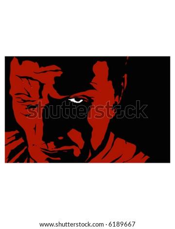 Dark Face - stock vector