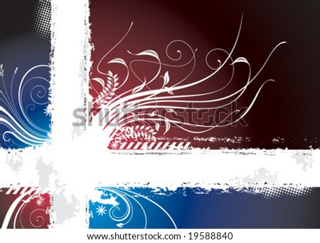 Dark Floral background with copy-space , vector layered.