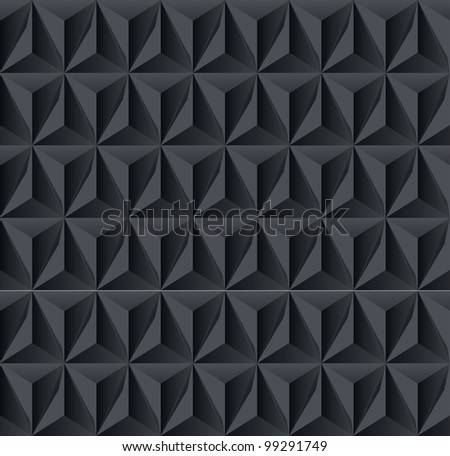Dark geometric shadow background - stock vector