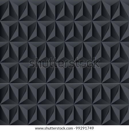Dark geometric shadow background - stock vector