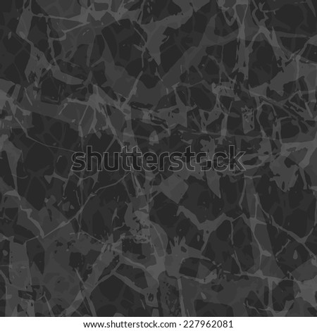 Dark Gray Marble Background - Vector EPS 10 - stock vector