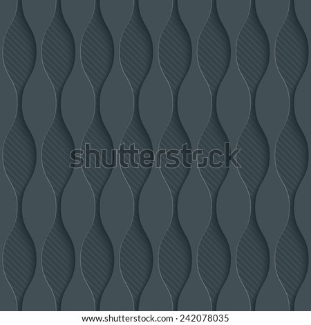 Dark gray perforated paper with cut out effect. Vector EPS10. See others in a Perforated Paper Set.  - stock vector