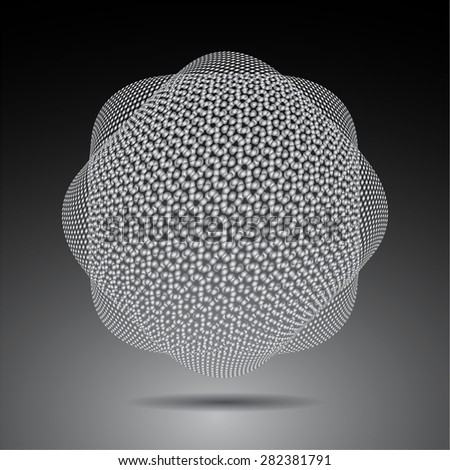 Dark gray Shining atom scheme. Vector illustration. dark background. digital. infographics. Abstract Technology background for computer graphic website internet. cell - stock vector