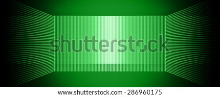 Dark green Abstract light lamps background for Technology computer graphic website internet and business.. Screen on stage. Vector illustration.Spot Effect. neon. point, platform, Spotlights - stock vector