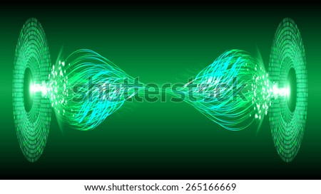 dark green color Light Abstract Technology background for computer graphic website internet and business. circuit. silver background - stock vector